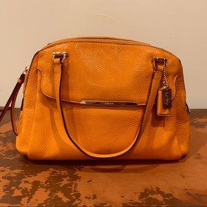 Coach orange leather bag